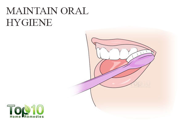 maitain oral hygiene to remove white spots on teeth