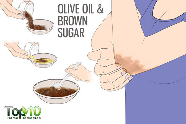 olive oil and brown sugar scrub for dry elbws